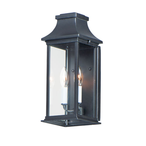 Vicksburg Black 7-Inch Two-Light Outdoor Wall Mount