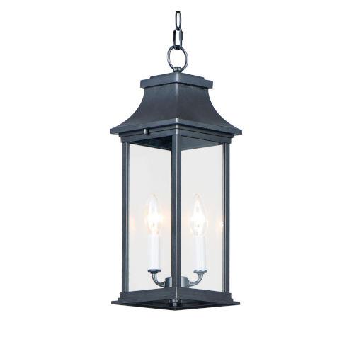 Vicksburg Black Two-Light Outdoor Chandelier