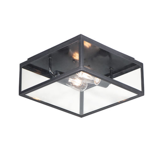 Catalina Dark Bronze Two-Light Outdoor Flush Mount