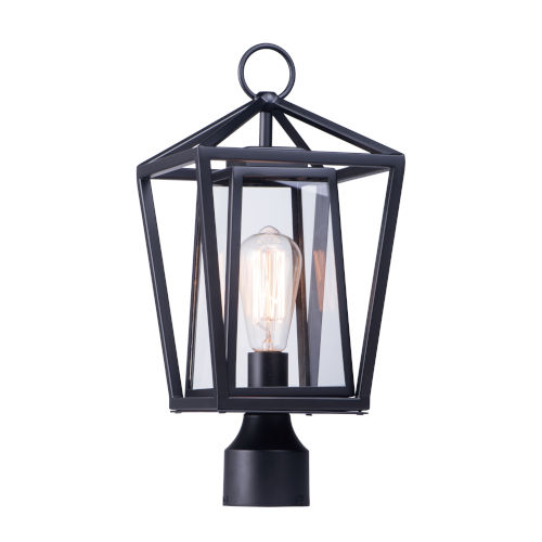 Artisan Black Eight-Inch One-Light Outdoor Post Mount