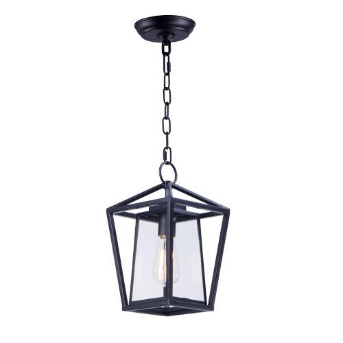 Artisan Black Eight-Inch One-Light Adjustable Outdoor Hanging Lantern