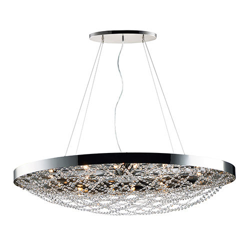 Maxim Lighting International Lace Polished Nickel 21-Inch 10-Light Pendant