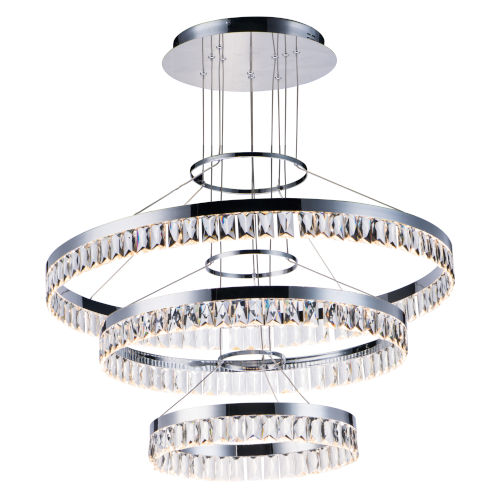 Icycle Polished Chrome 32-Inch LED Adjustable Chandelier