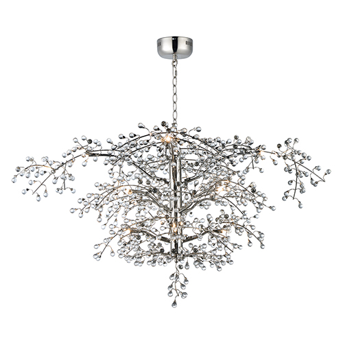 Cluster Polished Nickel 47-Inch LED Chandelier