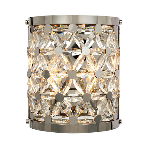 Cassiopeia Polished Nickel Nine-Inch Two-Light Wall Sconce