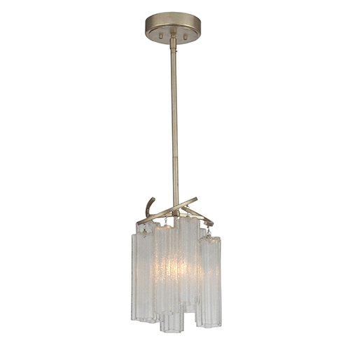 Victoria Golden Silver One-Light Adjustable Pendant