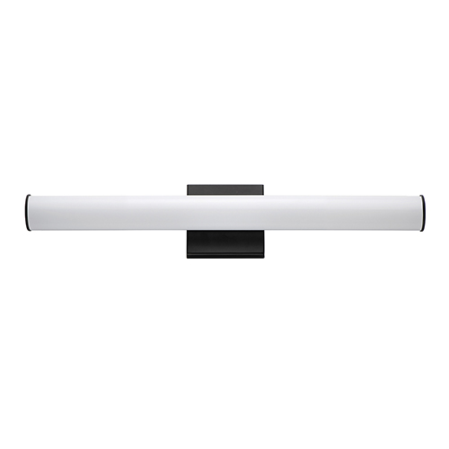 Rail Black Integrated LED ADA 24-Inch Wall Sconce