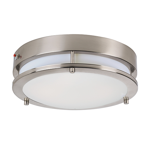 Linear LED Satin Nickel 11-Inch LED Flush Mount