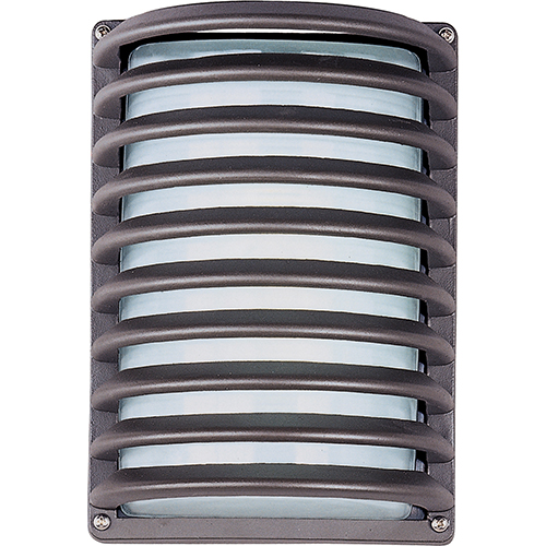 Zenith LED E26 Architectural Bronze Seven-Inch One-Light Outdoor Wall Mount