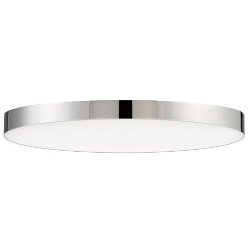Trim Polished Chrome One-Light ADA LED Flush Mount with 3000 Kelvin 1450 Lumens