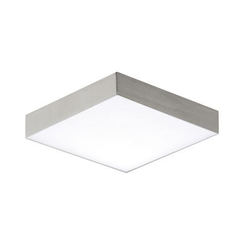 Trim Satin Nickel One-Light ADA LED Flush Mount with Polycarbonate Shade