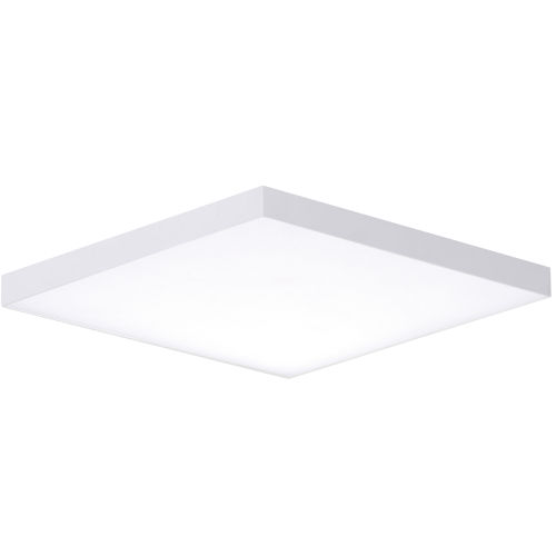 Trim White One-Light ADA LED Flush Mount with Polycarbonate Shade 3000 Kelvin 1280 Lumens