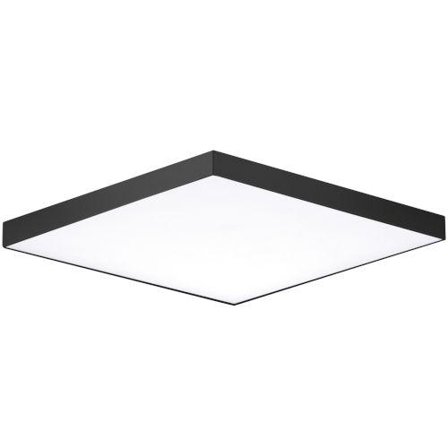 Trim Black One-Light ADA LED Flush Mount with Polycarbonate Shade 3000 Kelvin 1450 Lumens