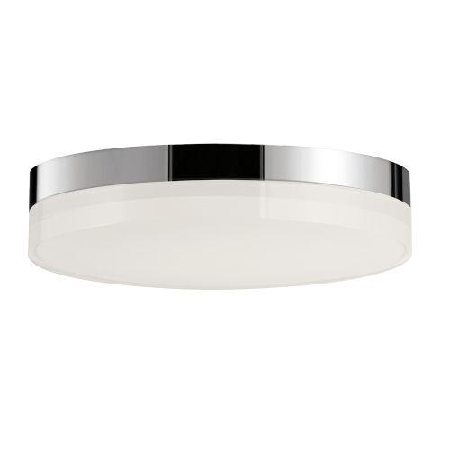 Illuminaire Ii Polished Chrome One-Light LED Flush Mount with Acrylic Shade 3000 Kelvin