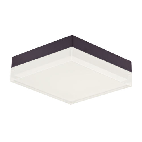 Illuminaire Ii Bronze One-Light LED Flush Mount with Acrylic Shade 3000 Kelvin 1080 Lumens