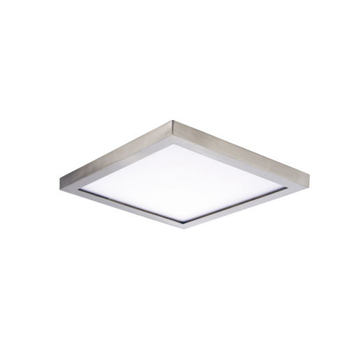 Chip Satin Nickel 5-Inch 3000K 12W Led One-Light Flush Mount with Polycarbonate Shade