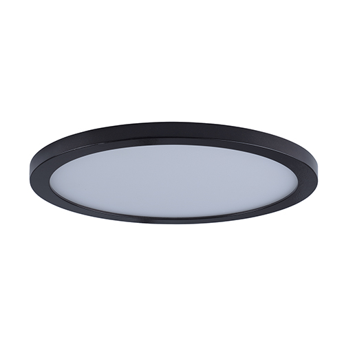 Maxim Lighting International Wafer LED Round Bronze 15-Inch Energy Star Flush Mount