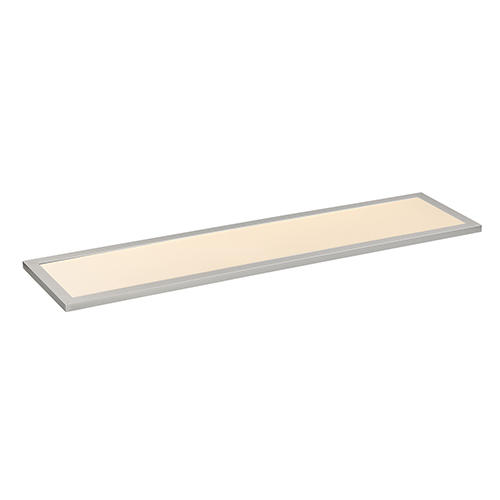Sky Panel Brushed Aluminum 48-Inch LED Energy Star Flush Mount