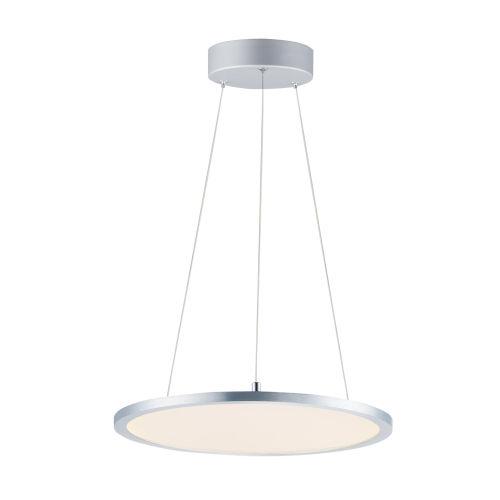 Wafer Satin Nickel 15-Inch LED Square Pendant