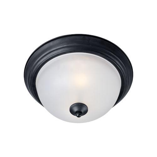 Essentials 584x Black One-Light Flush Mount