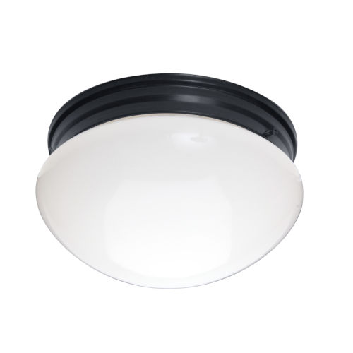Essentials 588x Black Two-Light Flush Mount