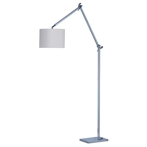 Hotel Polished Chrome 11-Inch LED Floor Lamp