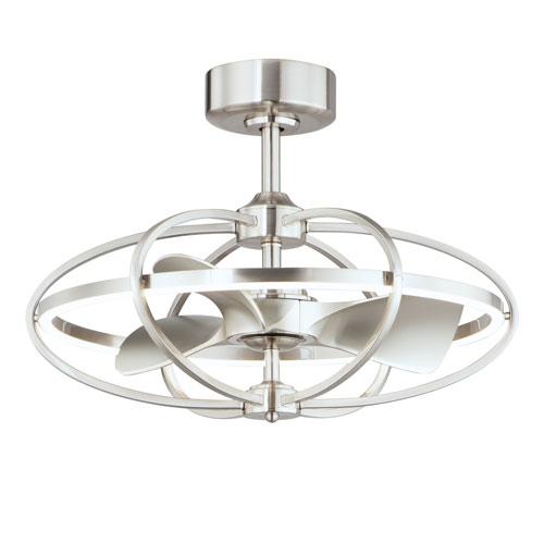 Corona Fan Satin Nickel LED Fandelight