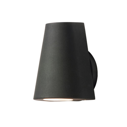Mini Black Five-Inch LED Outdoor Wall Sconce