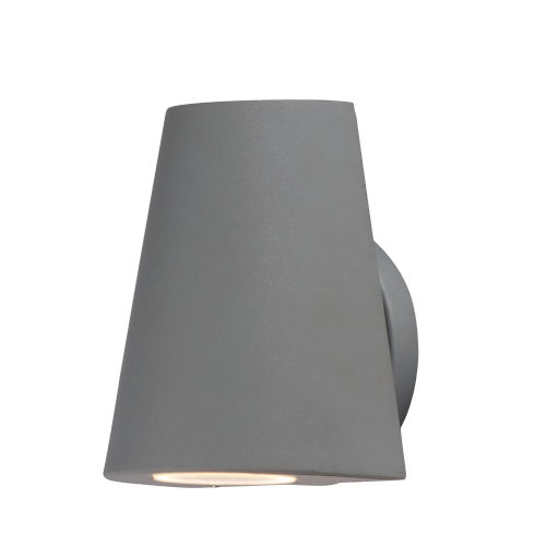 Mini Silver Five-Inch LED Outdoor Wall Sconce