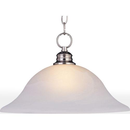 Essentials Satin Nickel 16-Inch One-Light Adjustable Pendant