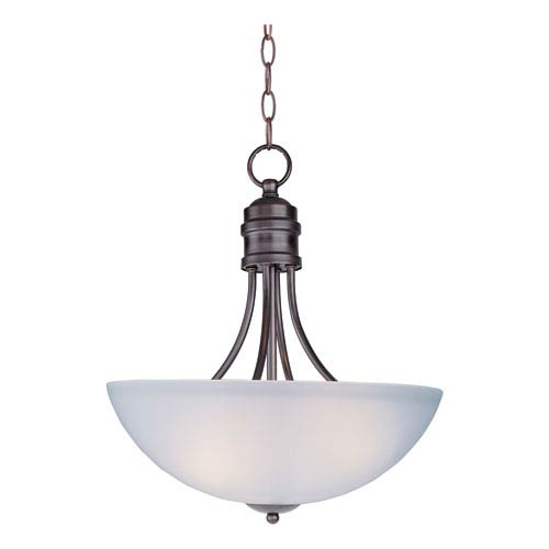 Logan Oil Rubbed Bronze Three-Light Invert Bowl Pendant