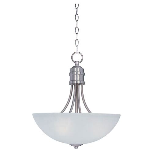 Maxim Lighting International Logan Satin Nickel Three-Light Invert Bowl Pendant