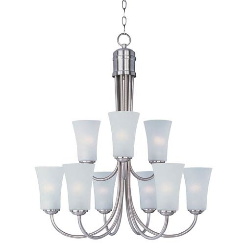 Maxim Lighting International Logan Satin Nickel Nine-Light Single-Tier Chandelier