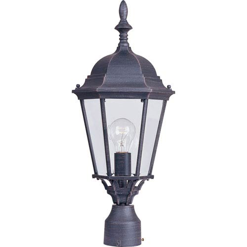 Maxim Lighting International Westlake Rust Patina Cast One-Light Outdoor Pole/Post Lantern