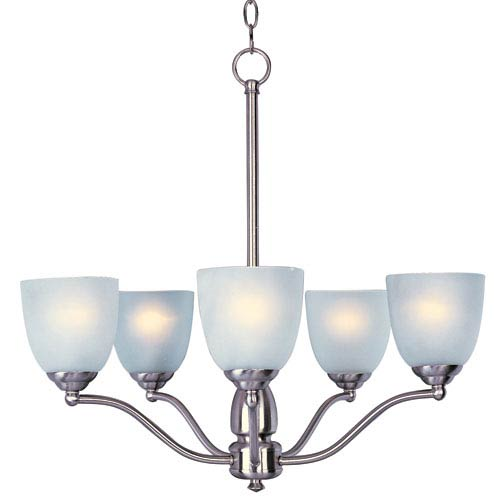 Maxim Lighting International Stefan Satin Nickel Five-Light Single-Tier Chandelier