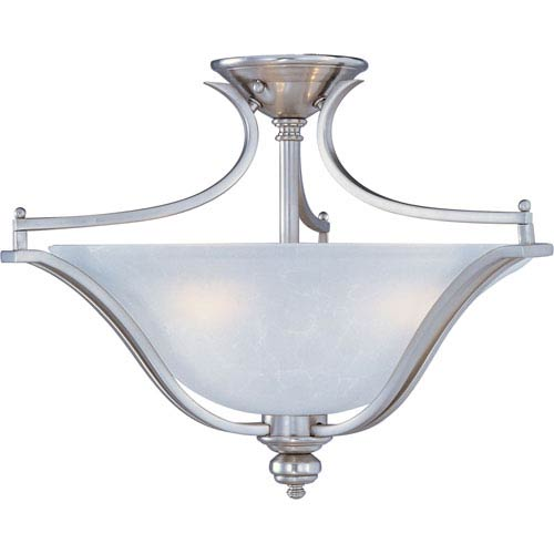 Maxim Lighting International Madera Satin Silver Three-Light Semi-Flush Mount