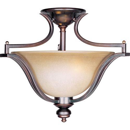 Maxim Lighting International Madera Oil Rubbed Bronze Three-Light Semi-Flush Mount