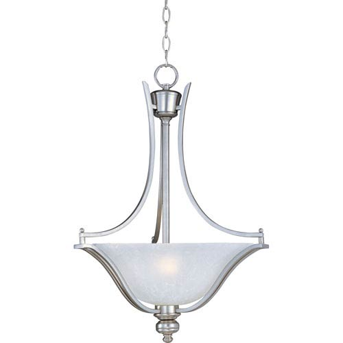 Maxim Lighting International Madera Satin Silver Three-Light Pendant