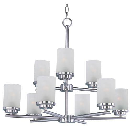 Maxim Lighting International Corona Satin Nickel Nine-Light Multi-Tier Chandelier