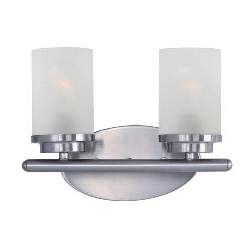 Maxim Lighting International Corona Satin Nickel Two-Light Bath Vanity