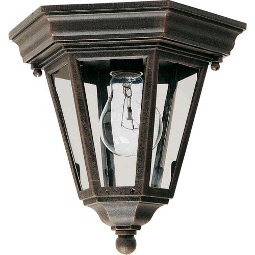 Westlake Rust Patina One-Light Outdoor Flushmount
