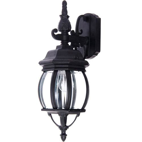 Maxim Lighting International Crown Hill Black One-Light Outdoor Wall Lantern