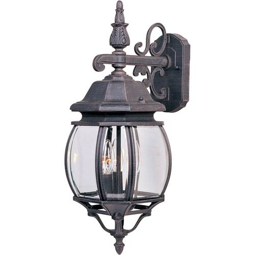 Maxim Lighting International Crown Hill Rust Patina Three-Light Outdoor Wall Lantern