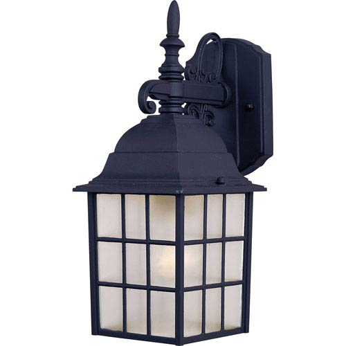 North Church Black One-Light Fourteen-Inch Outdoor Wall Sconce