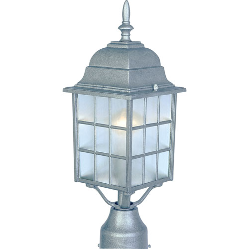North Church Pewter One-Light Outdoor Post