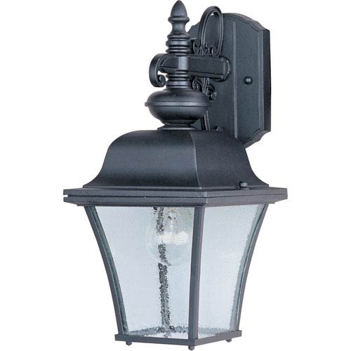 Maxim Lighting International Senator Black One-Light Outdoor Wall Lantern