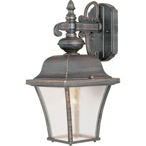 Maxim Lighting International Senator Rust Patina One-Light Outdoor Wall Lantern