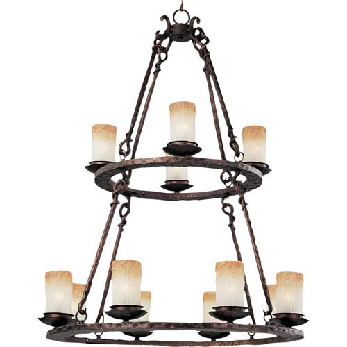 Notre Dame Oil Rubbed Bronze Twelve Light Chandelier