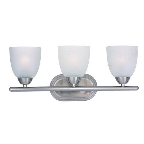 Maxim Lighting International Axis Satin Nickel Three-Light Bath Vanity
