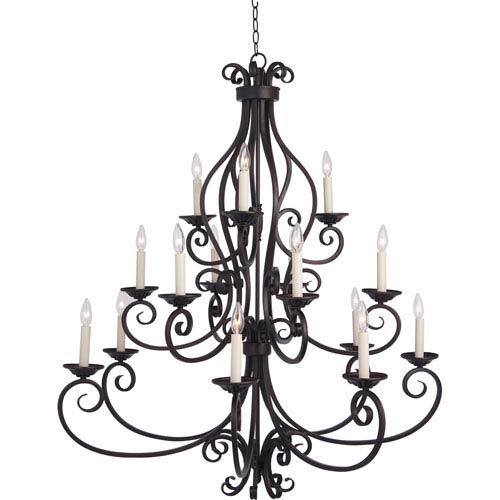 Maxim Lighting International Manor Oil Rubbed Bronze Fifteen-Light Multi-Tier Chandelier